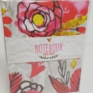 Notebook Journal with big pretty pink roses and he
